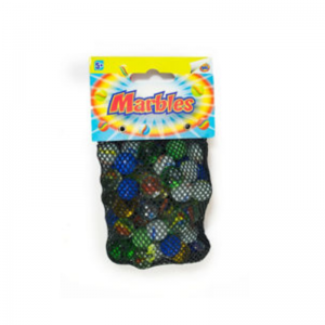 Marbles in a Net Pocket Money Toy