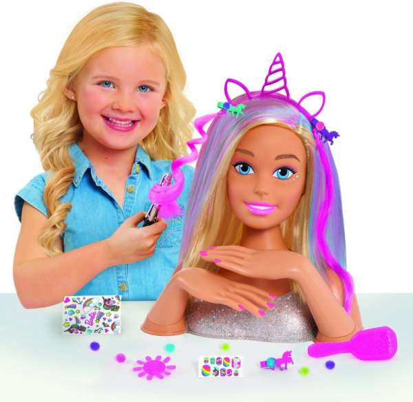 Barbie Glitter Dream Blonde Styling Head Toy (1)