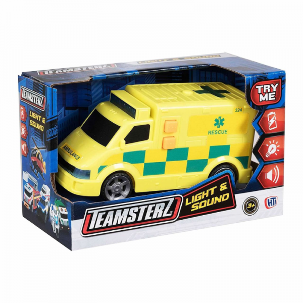 Emergency Teamsterz Vehicles Toy with Lights and Sounds (4)
