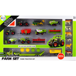 22pcs Tractor Toy Farm Diecase Playset