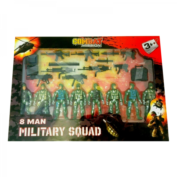 8 Man Army Figures Playset Toy