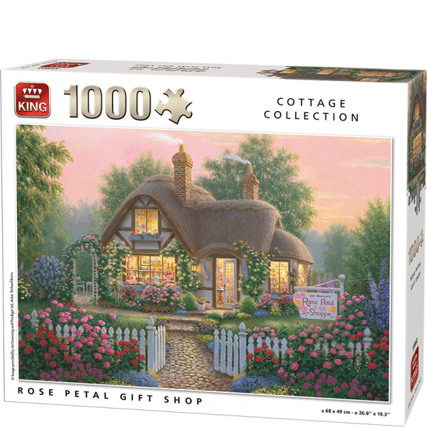 Rose Petal Shop Kings Jigsaw Puzzle 1000pcs