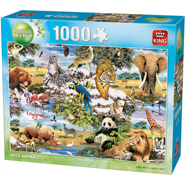 Wild Animals Jigsaw Puzzle by Kings 1000pcs