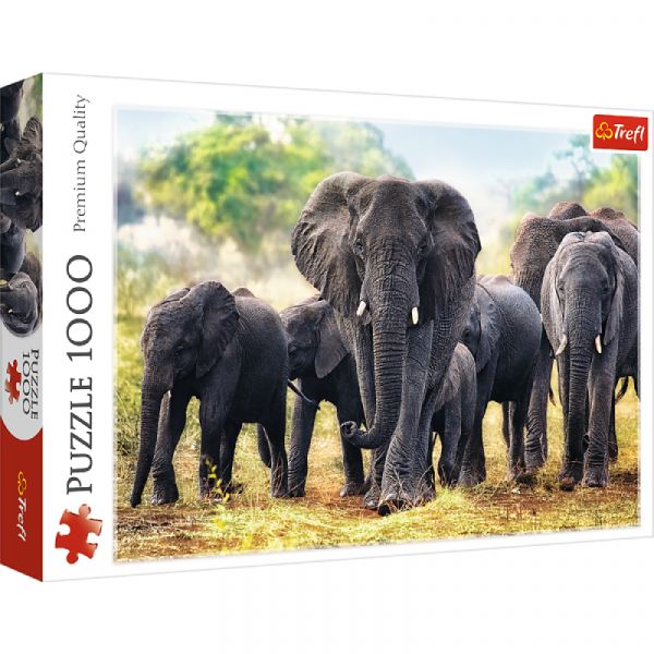 African Elephants Jigsaw Puzzle 1000