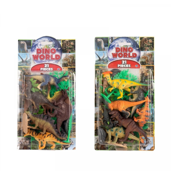 DINO WORLD 21 PIECES