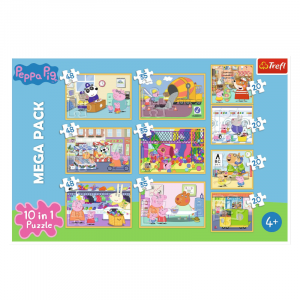 Peppa Pig 10 in 1 Jigsaw Puzzle