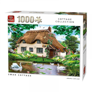 Swan Cottage Jigsaw Puzzle