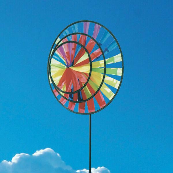 Rainbow Wind Spinner Windmill
