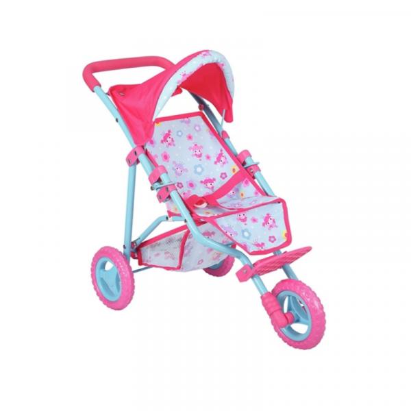 Dollsworld 3 Wheel Folding Stroller - Tri Pushchair